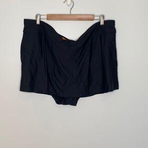 Addition Elle Black Swim Skirt with Waistband 3X